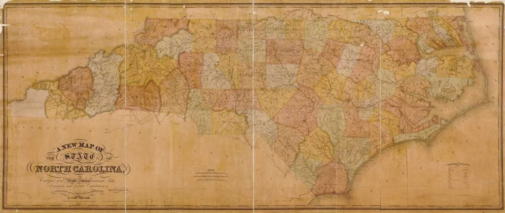 A New Map of the State of North Carolina