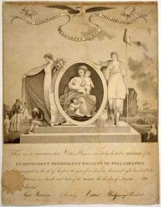 Female Benevolent Society Membership Certificate